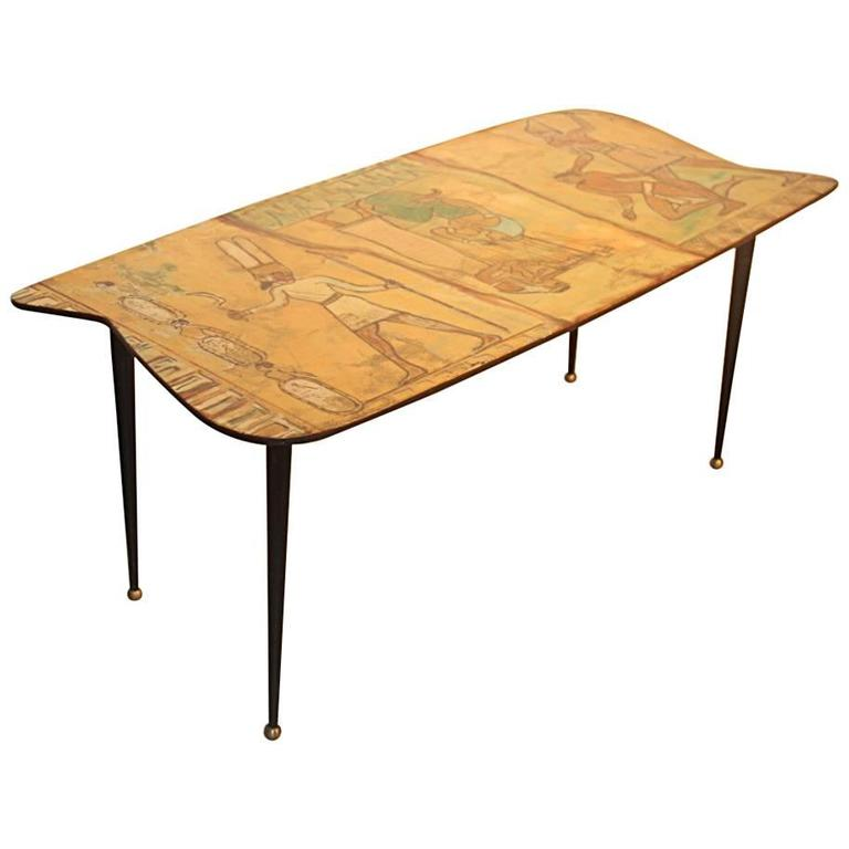 Coffee Table Italian Mid-Century Processing Decalage