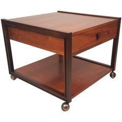 Edward Wormley for Dunbar Walnut Side Table
