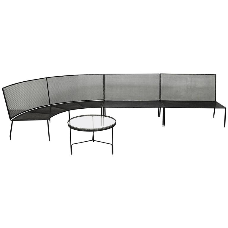 Set of Mathieu Mategot Sofa and Coffee Table, circa 1950 For Sale