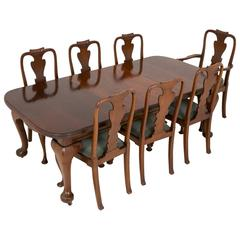 Late Victorian Mahogany Dining Table and Seven Chairs