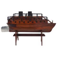 Folk Art Boat Model