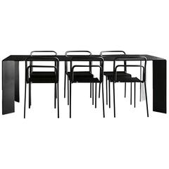 Acier Black Dinning Table in Hand Crafted Steel