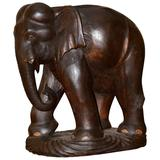 Elephant Sculpture in Noble Wood