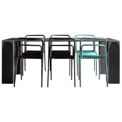 Acier Dark Dinning Table in Handcrafted Steel