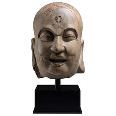 Song Dynasty Stone Head of a Lohan Buddha, 960 AD