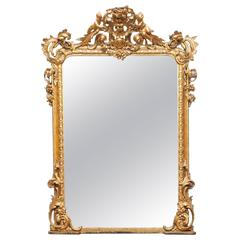 19th Century Gilt Overmantel Mirror
