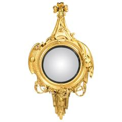 19th Century Gilt Convex Mirror