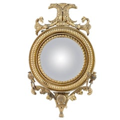 Early 19th Century Gilt Convex Mirror