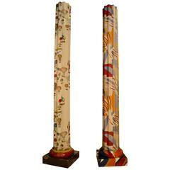 1960s Large Fiber Columns By Piero Fornasetti And Matisse