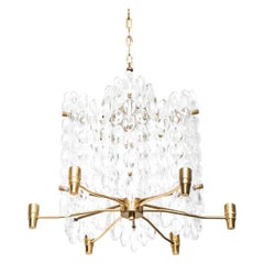 Carl Fagerlund Pair of Ceiling Lamps by Orrefors in Sweden