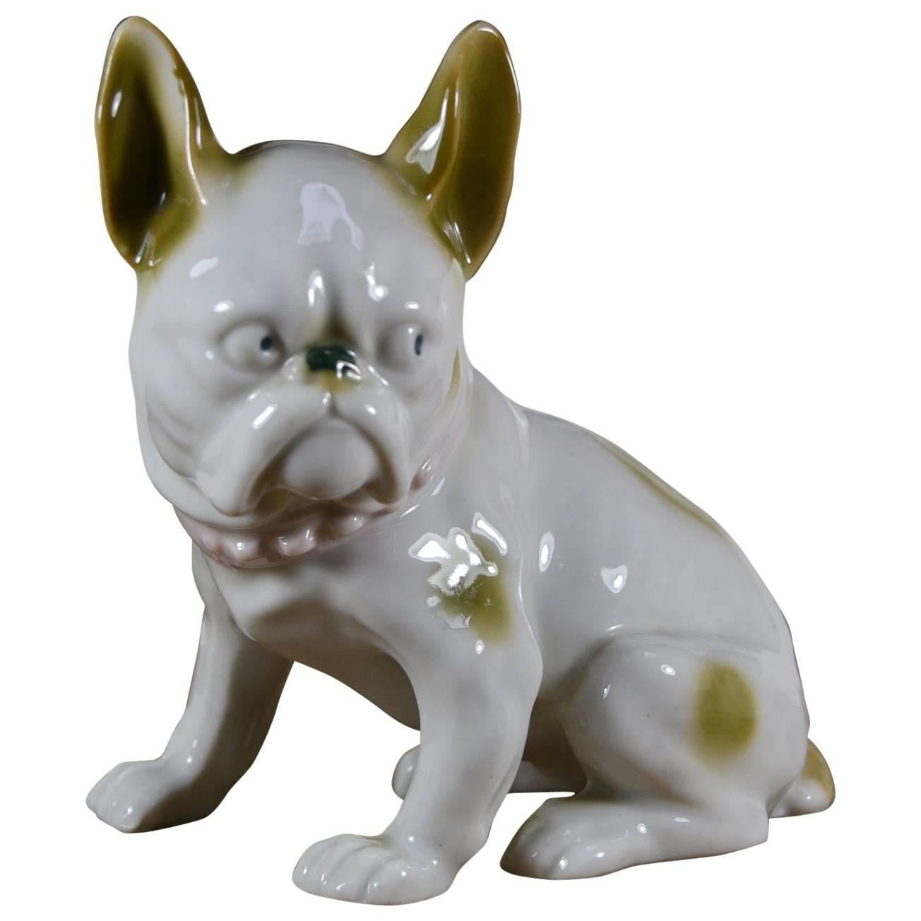 Porcelain French Bulldog Figurine, Europe , 1930s