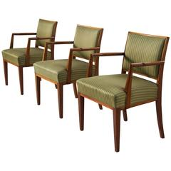 Set of Three Scandinavian Armchairs in Teak