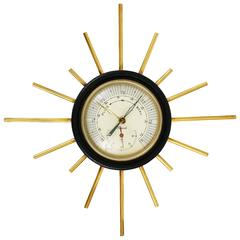 Mid-Century Sputnik Weather Station, Barometer, Thermometer, Maxant France, 1950