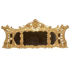 18th Century Giltwood Overmantle Mirror