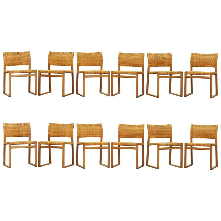 Beautiful Set of 12 Dining Chairs by Børge Mogensen for Fredericia