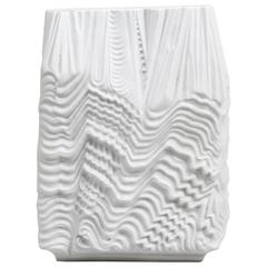 Large Martin Freyer White Porcelain Vase, Rosenthal Studio Linie, Germany, 1960