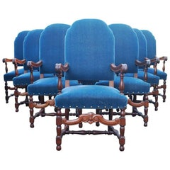 Set of Ten 20th Century Mahogany Armchairs