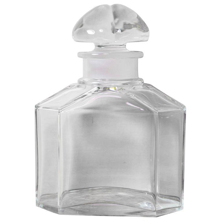 Große Vintage Parfüm Flasche, Guerlain Baccarat 1