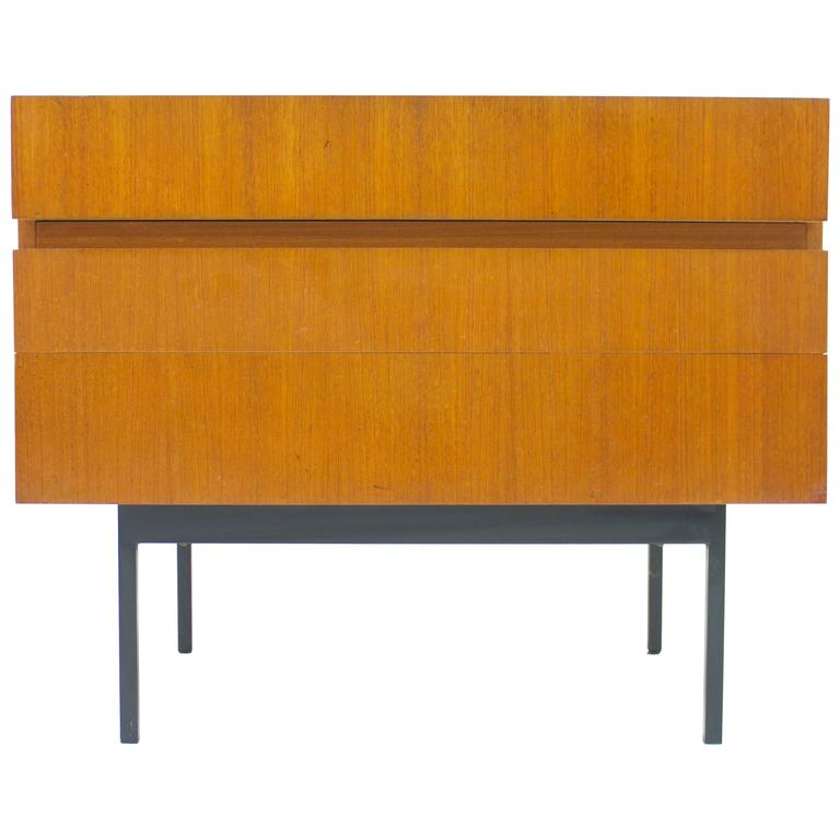 Teak Dresser or Small Sideboard by Dieter Waeckerlin for Behr, 1950s For Sale
