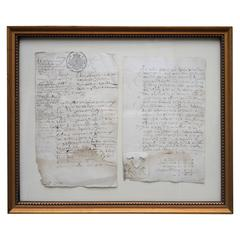 18th Century Flemish Framed Documents