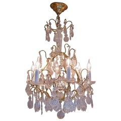 Small French Louis XV Style Gilt Bronze and Crystal Chandelier, circa 1900