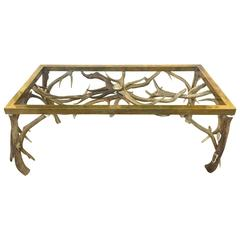 Bon Horn/Brass Coffee Table Atteibuted To Anthony Redmile