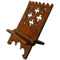 French Gothic Oak Book Rest or Reading Stand, Lutrin