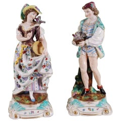 Pair of 19th Century German Porcelain Figures