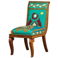 Italian Parcel-Gilt Mahogany Side Chair First Half of the 19th Century