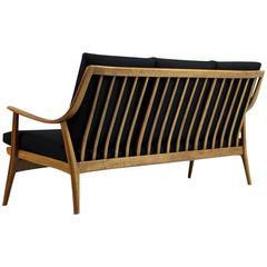 Schöne und Sehr Seltenes Modernes 1950er Jahre Sofa aus Buchenholz
