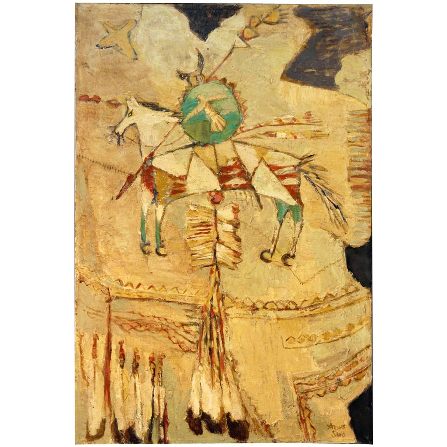 Native American Cowhide Wall Art at 1stdibs