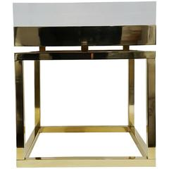 Mies Side Table - Small in Brass By Michael Dawkins