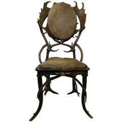 19th Century Vintage Antler Chair