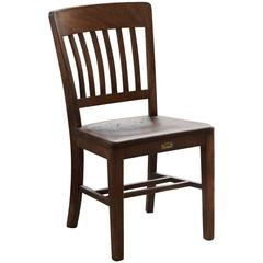 1920s Solid Oak Office Chair by W.H. Gunlocke Chair Co