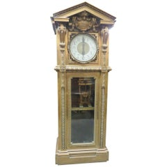 Monumental Unique Singer Sewing Co. Bronze Master Clock