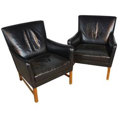 Superb Pair of Ole Wanscher Lounge Chairs