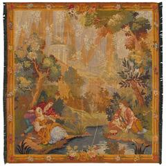 European Tapestry with Abundant Woodland Setting and Dramatic Composition