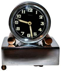Rare 1930s Art Deco Miniature Musical Alarm Clock