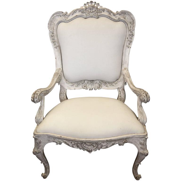 Venetian Style Armchair For Sale
