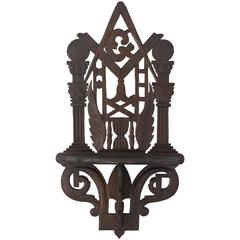 Masonic Shelf Bracket Made Attributed to the John Haley Bellamy Workshop
