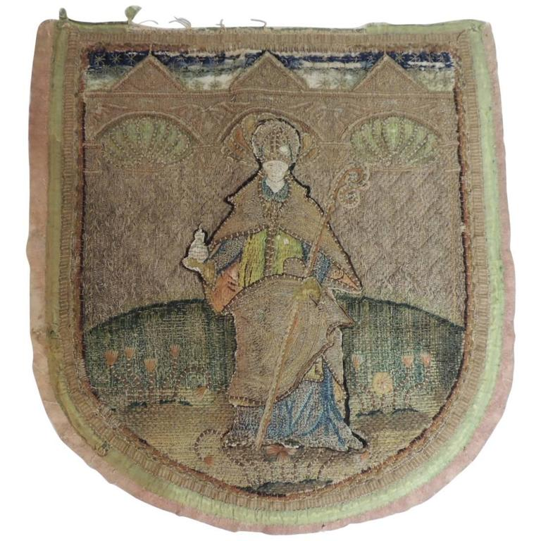 18th Century Tapestry Fragment of an English Cope A.T.G. Textile