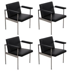 Set of Four Paddle Armchairs by George Nelson for Herman Miller
