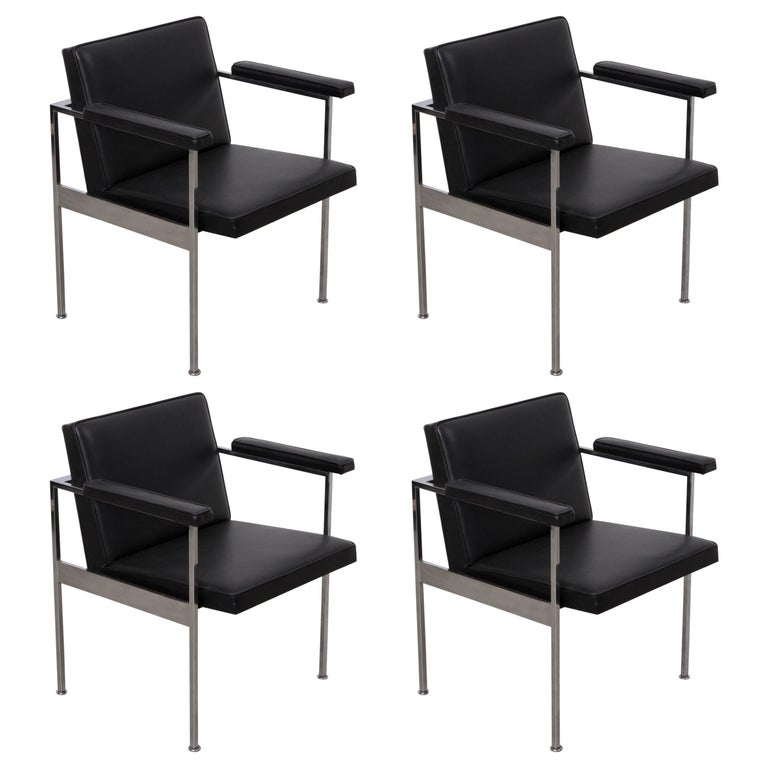 Set of Four Paddle Armchairs by George Nelson for Herman Miller For Sale