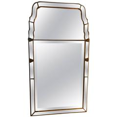 Queen Anne Style Beveled Giltwood Mirror by Mirror Fair