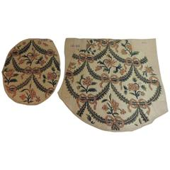 CLOSE OUT SALE: 19th Century Needlework Chair Seat and Back Covers