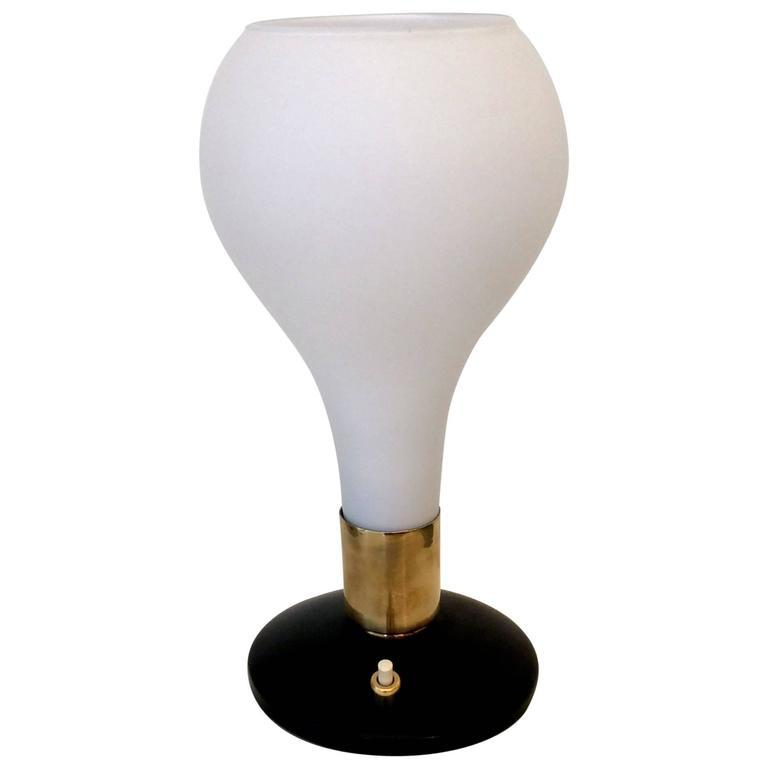 Opaline Table Lamp circa 1960, Italy