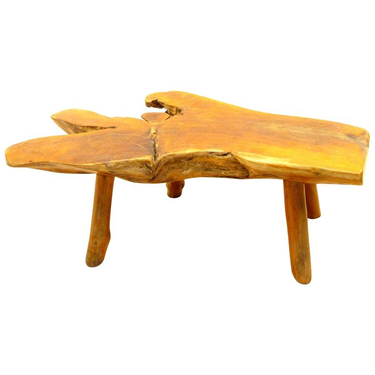 Rustic Log Bench Or Table For Sale At 1stdibs