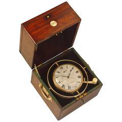 Tobias and Levitt, Minories, London, Mahogany 8-Day Marine Chronometer No.223