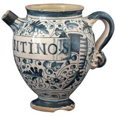 Montelupo 'Italy' Majolica Chevrette, 17th Century, Small Sized