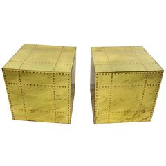 Pair of Signed Sarreid Side Tables or End Tables